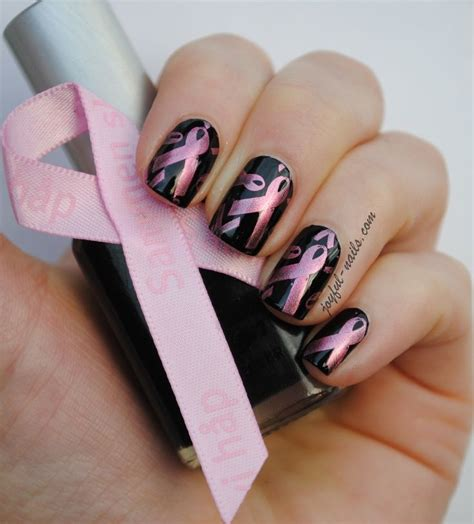 nail art ribbon design tutorial 116 best breast cancer awareness nail design images on