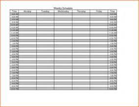 blank schedule templates 7 blank weekly schedule survey template words