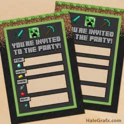 Minecraft Invitation Template Free by Minecraft Invitation Cake Ideas And Designs