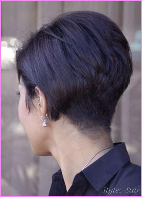 medium hair in back short in front short haircuts black women front and back stylesstar com
