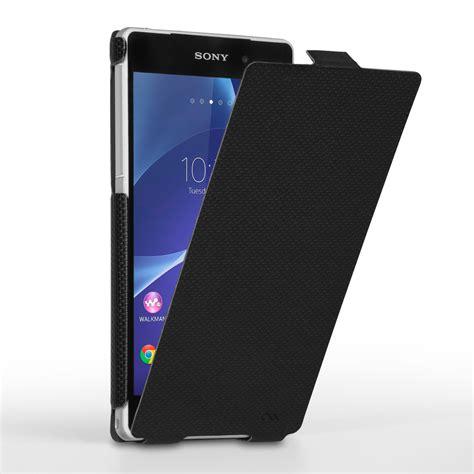 Flip Cover Experia Z2 mate slim flip sony xperia z2 black mobil