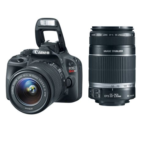 canon deals canon rebel sl1 w 18 55mm 55 250mm lenses for 539