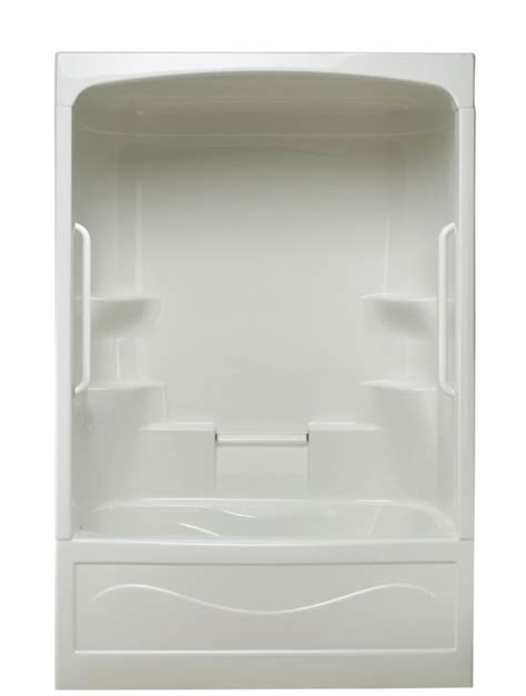 bathtub shower combo home depot mirolin liberty 1 piece combination tub and shower free