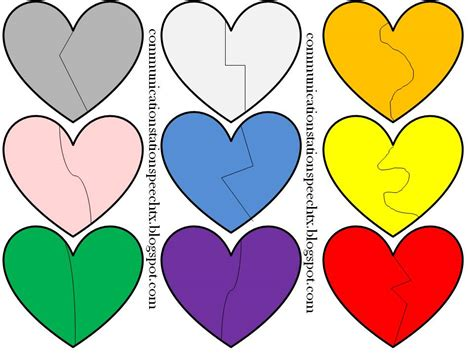printable puzzle heart communication station speech therapy pllc freebie friday