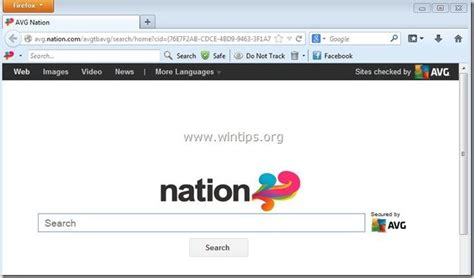 Nation Search Remove Avg Nation Search Toolbar Removal Wintips Org Windows Tips