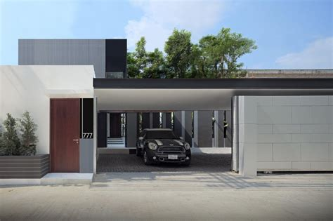 Small Home Garage Ideas Furniture Modern Small House Design In Yen Akat Road