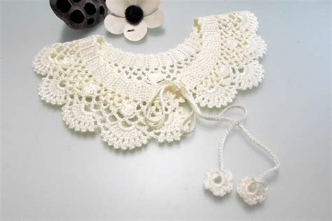 pattern crochet lace collar crochet pattern lace collar pattern peter pan collar pdf pdf