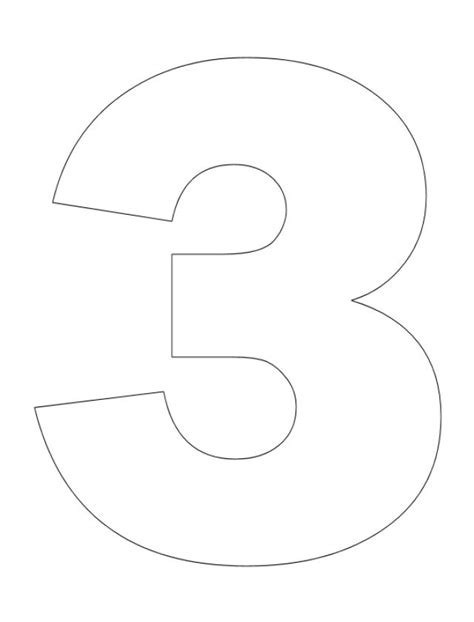 coloring page of the number 3 best photos of printable number three printable number 3