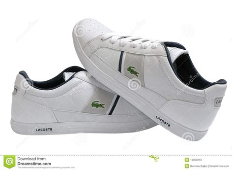 lacoste sports shoes lacoste sport shoes editorial stock photo image of