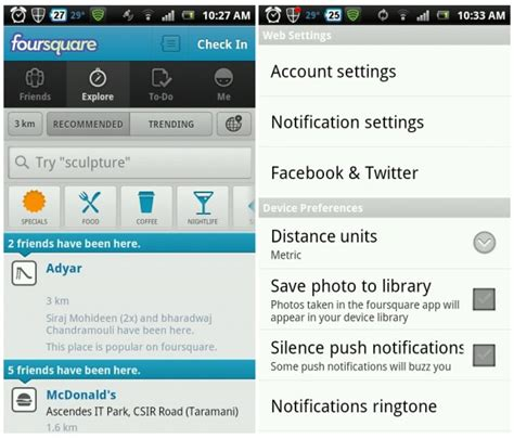 foursquare for android foursquare for android gets new look and lots of features