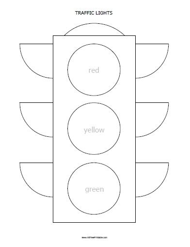 Traffic Lights Coloring Page Free Printable Traffic Light Template