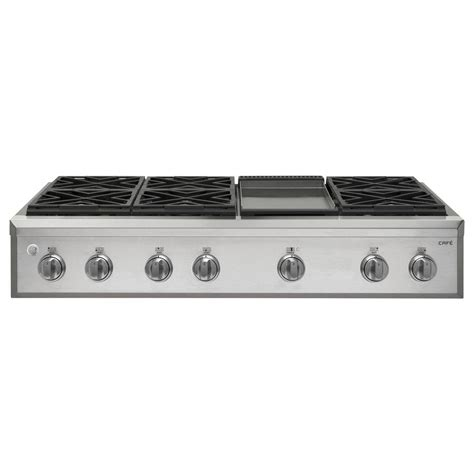 6 burner gas cooktop kitchenaid 48 in gas cooktop in stainless steel with