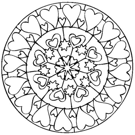 mandala coloring pages valentines mandala valentines day mandalas coloring pages