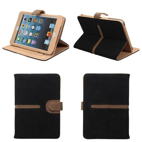 2 3 4 360 Rotating Leather Smart 360 176 rotating smart suede leather cover stand for