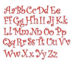 Curly machine embroidery fonts 1 quot 2 quot 3 quot