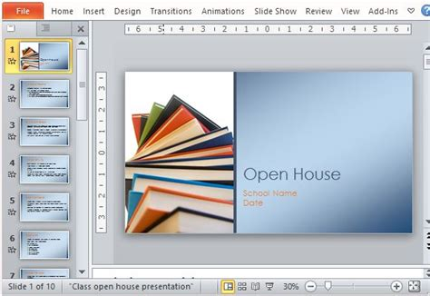 classroom open house presentation template for powerpoint