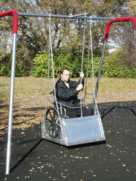 Handicap Swing by Wheelchair Platform Swing Ada Accessible Playground