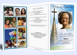 obituary template tips for selecting obituary program paper