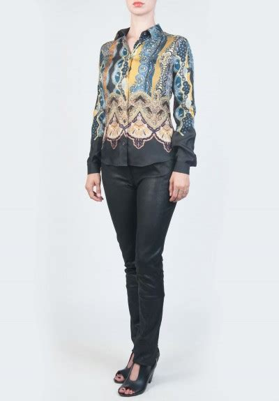 etro quilted jacket in tribal pattern santa fe dry goods etro silk blouse with tribal pattern in blue santa fe