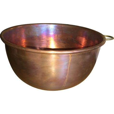 copper bowl vintage solid copper mixing bowl from basinger on ruby