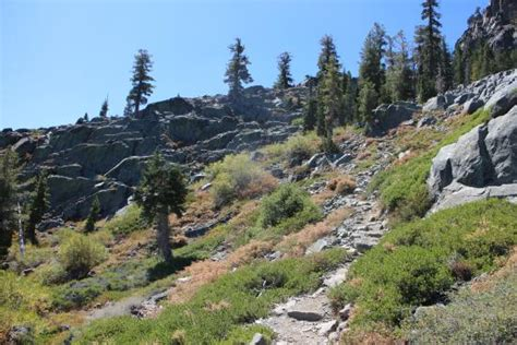 walking in circles backpacking the tahoe trail books trail picture of mt tallac trail south lake tahoe