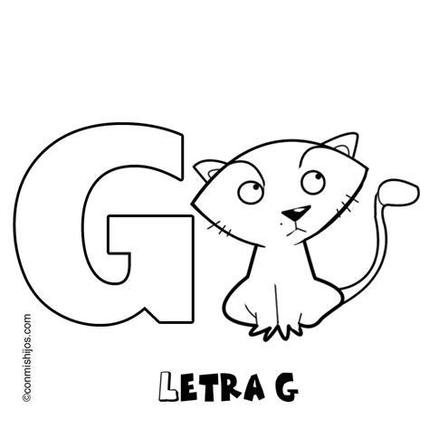 imagenes en ingles con la letra g imprimir letra g dibujos para colorear