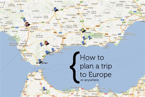 map for trip planning europe travel guide map