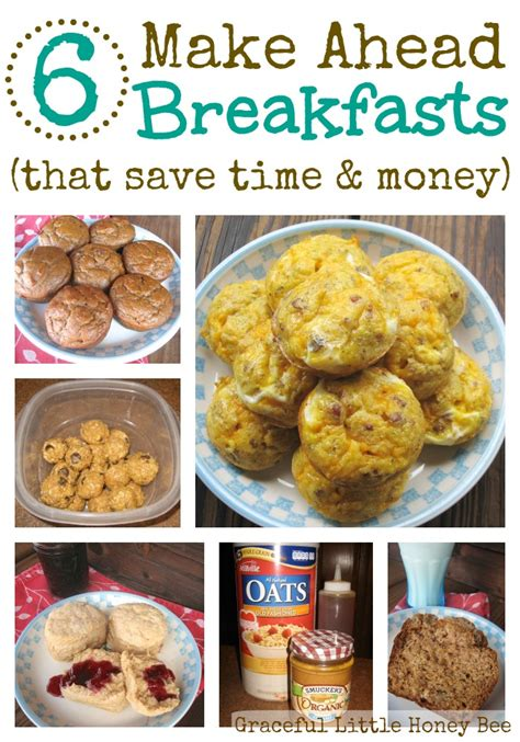 6 make ahead breakfasts that save time money graceful little honey bee