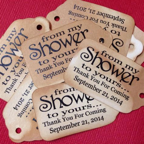 from shower to yours choose your quantity small 2 favor tag