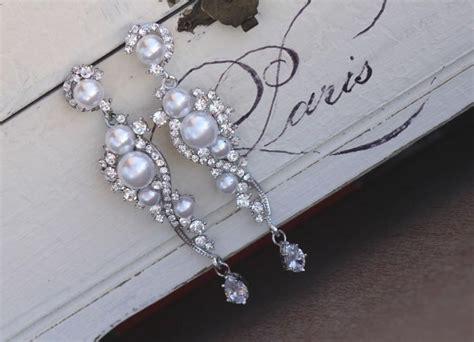 pearl chandelier earrings wedding pearl bridal earrings and pearl dangle earrings