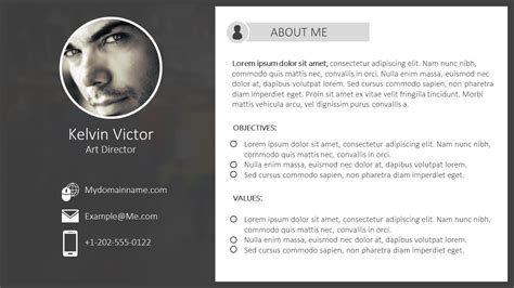 Powerpoint Resume Template by Resume Template For Powerpoint