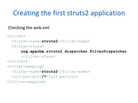 url pattern in web xml for struts2 struts2 course chapter 2 installation and configuration