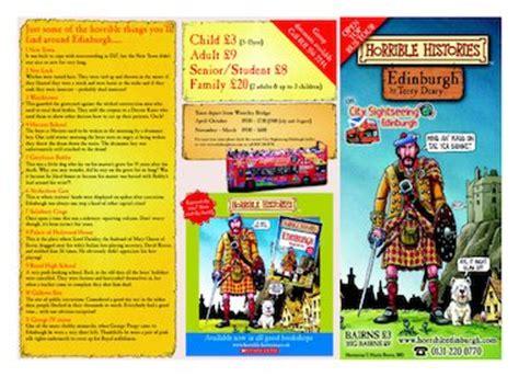 leaflet design ks2 horrible histories edinburgh tour free primary ks2
