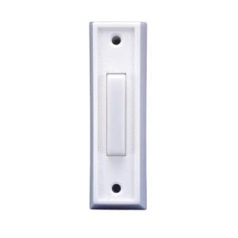 iq america wired lighted doorbell push button plastic