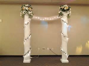 Arch Drapes Simply Elegant Weddings Columns And Balustrade Rentals