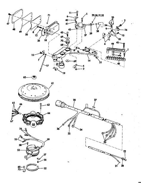 evinrude outboard parts diagram evinrude ignition system parts for 1976 85hp 85693d