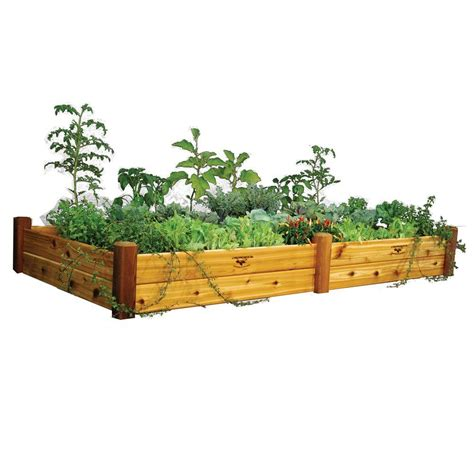 gronomics raised garden bed gronomics 48 in x 95 in x 13 in safe finish raised