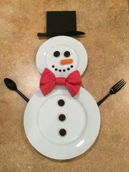 Green Table Settings - making a snowman place setting thriftyfun