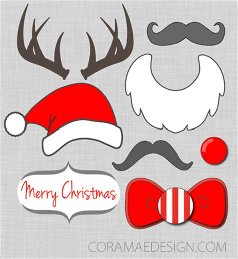 printable christmas themed photo booth props 101 days of christmas printable photo booth props