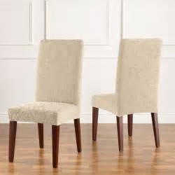 slipcover dining chair sure fit slipcovers stretch jacquard damask dining