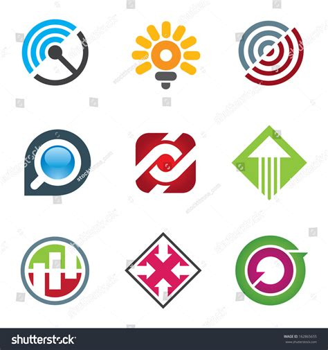Search Social Networks For Free Business Logo For Creative And Free Spirited Innovators In Social Network Stock Vector