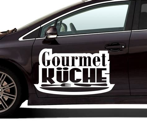 Autoaufkleber Text Drucken by Auto Aufkleber Gourmet K 252 Che Text Dekoration Autoaufkleber