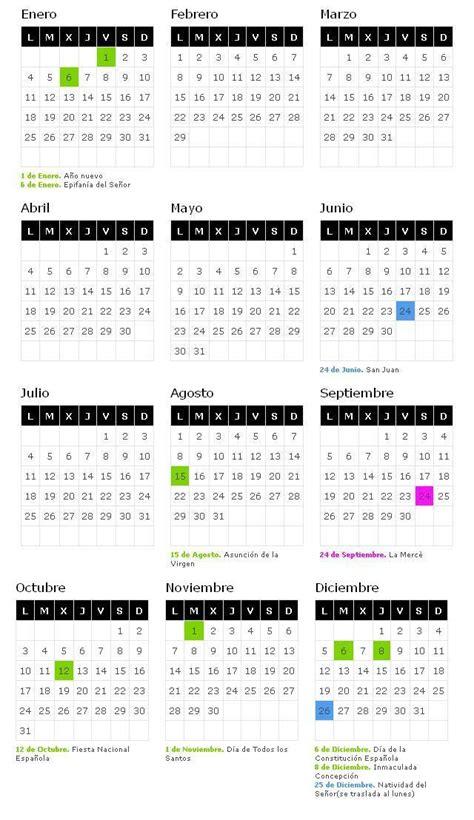 Calendario Laboral Barcelona 2017 Calendario Laboral 2018 Barcelona De Opcionis