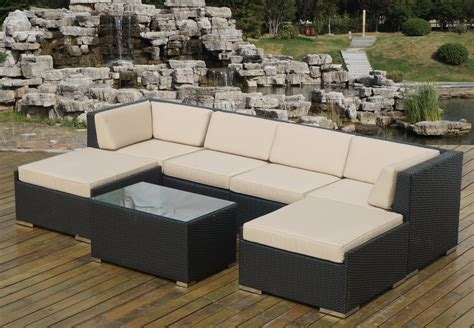 Outdoor Sofa With Chaise Captivating Metal Outdoor