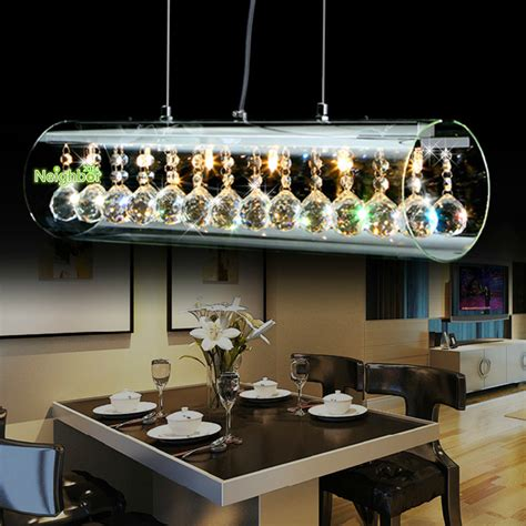 New Modern Crystal Led Pendant Light For Home Suspension Pendant Lighting Fixtures For Dining Room