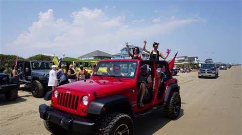 Galveston Jeep Road Cing On The Out Jeeps At