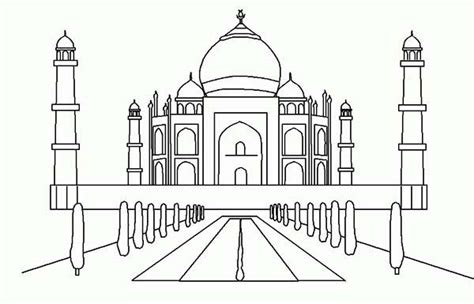 here home taj mahal 7th wonder of the world coloring page