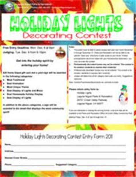 office holiday decorating contest flyer the city of laguna niguel website