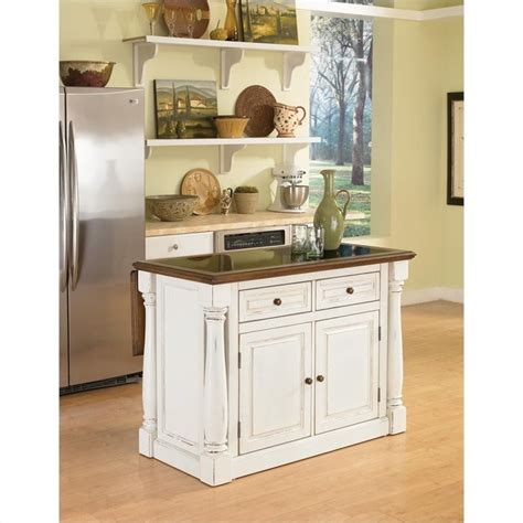 home styles monarch antiqued white kitchen island 5021 94