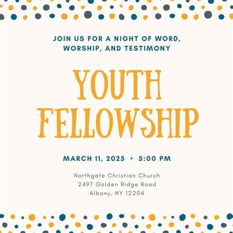 Church Invitation Templates Canva Youth Invitation Template